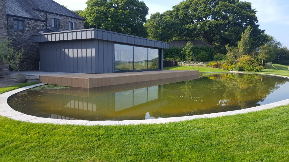 FLP Pond Liner adds tranquil touch to Devon farmhouse.